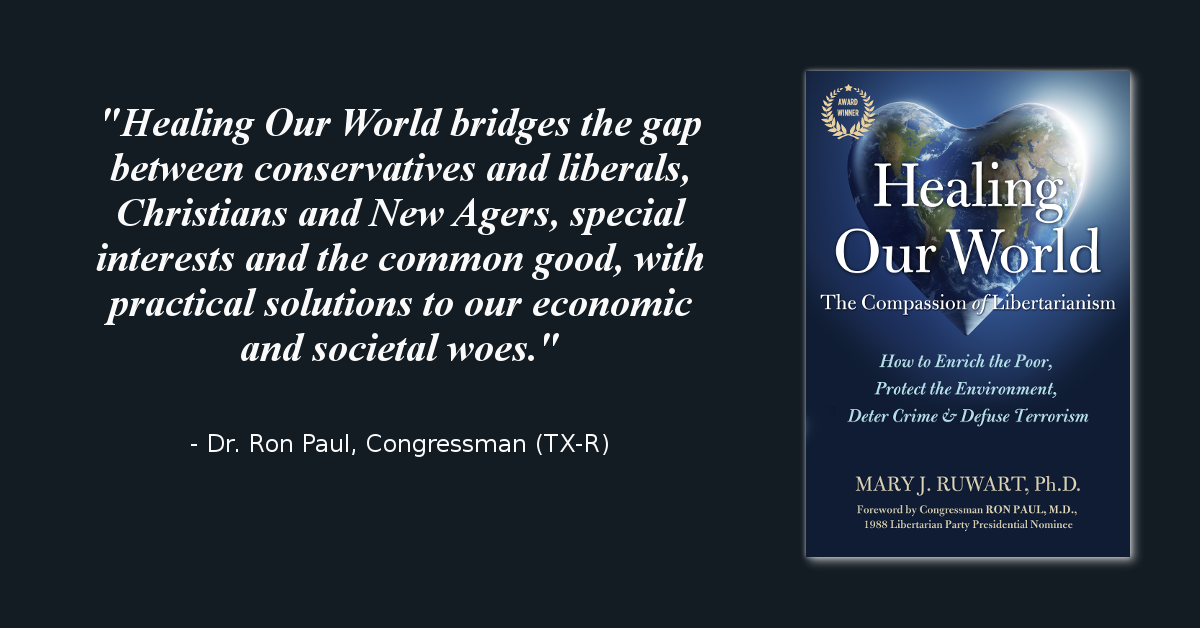 """""""Healing Our World: The Compassion of Libertarianism"""" named Foreword Reviews' 2015 INDIEFAB Book of the Year Awards Finalist"""